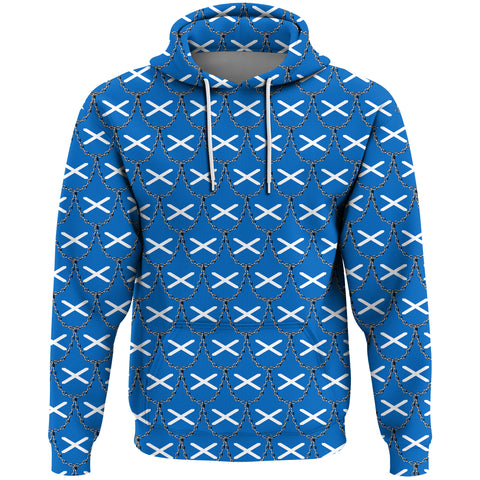 Scotland Flag And Chains Pattern Hoodie