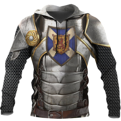 Image of Scotland Hoodie, Scottish Knight With Scottish Shield A7