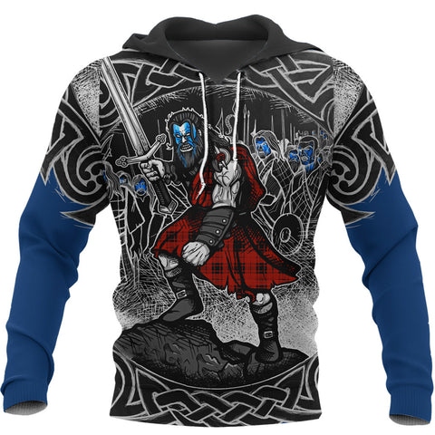 Scotland Hoodie, Scottish Warrior Freedom A7