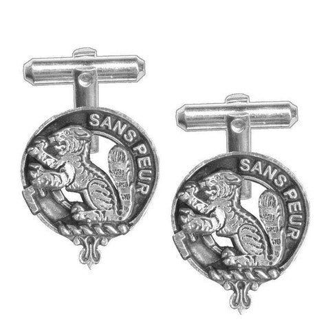 Sutherland Tartan Clan Badge Scottish Cufflink