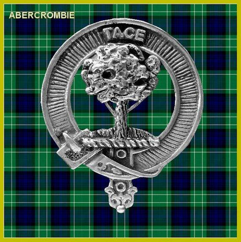 Abercrombie Tartan Clan Crest Scottish Badge Flask