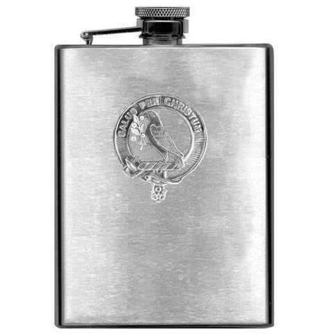 Image of Abernethy Tartan Clan Crest Scottish Badge Flask | 1stScotland