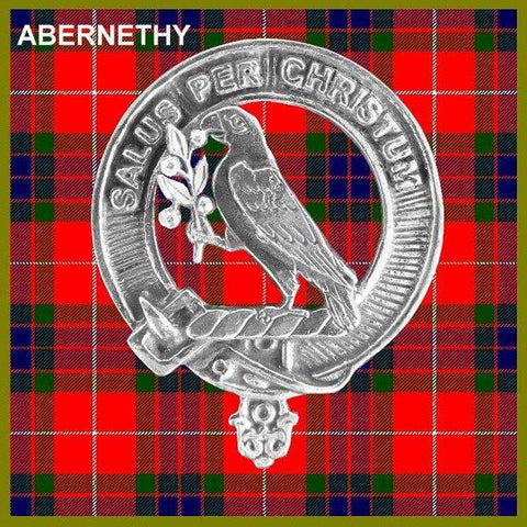 Image of Abernethy Tartan Clan Crest Scottish Badge Flask