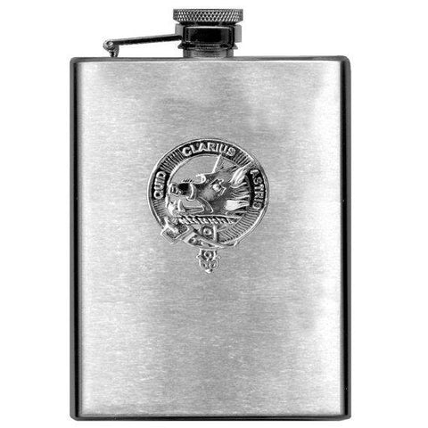 Baillie Tartan Clan Crest Scottish Badge Flask | 1stScotland