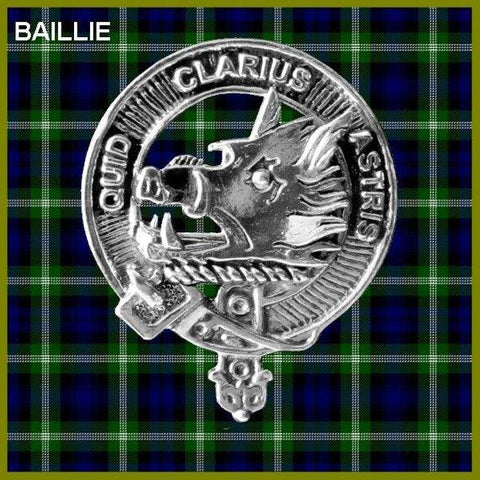 Baillie Tartan Clan Crest Scottish Badge Flask
