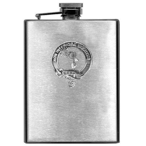 Buchan Tartan Clan Crest Scottish Badge Flask