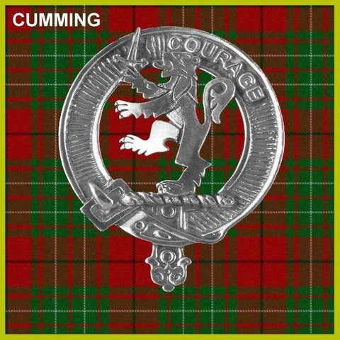 Cumming Tartan Clan Crest Scottish Badge Flask