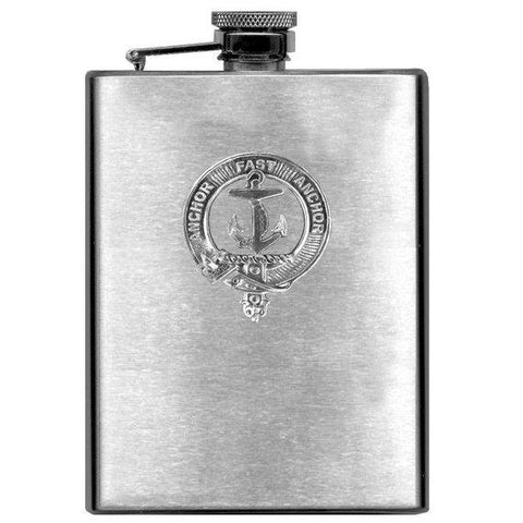 Gray Tartan Clan Crest Scottish Badge Flask | 1stScotland