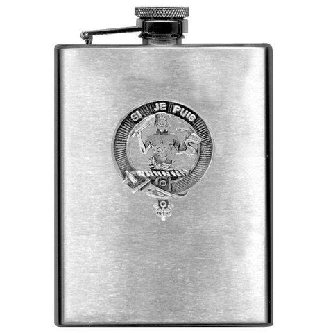 Livingston Tartan Clan Crest Scottish Badge Flask | 1stScotland