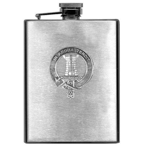 MacCallum Tartan Clan Crest Scottish Badge Flask | 1stScotland