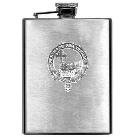 MacDonald (Clan Donald) Tartan Clan Crest Scottish Badge Flask | 1stScotland
