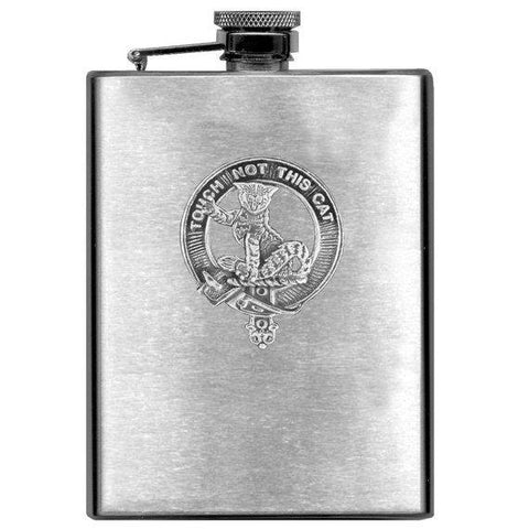 MacGillvray Tartan Clan Crest Scottish Badge Flask | 1stScotland
