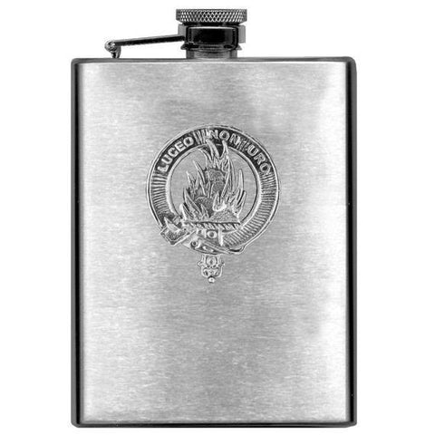 MacKenzie Tartan Clan Crest Scottish Badge Flask | 1stScotland