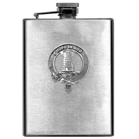 MacNaughton Tartan Clan Crest Scottish Badge Flask | 1stScotland