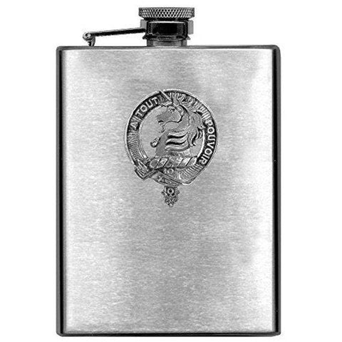Oliphant Tartan Clan Crest Scottish Badge Flask | 1stScotland