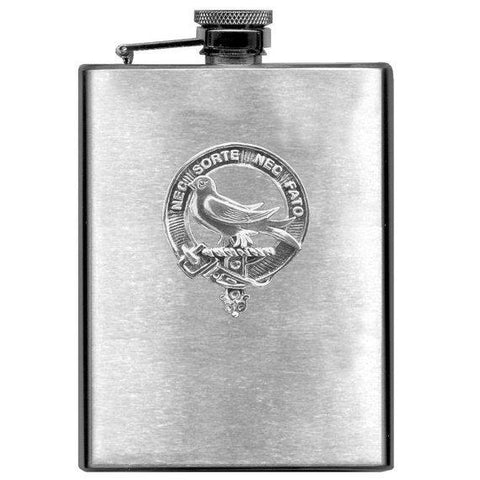 Rutherford Tartan Clan Crest Scottish Badge Flask | 1stScotland