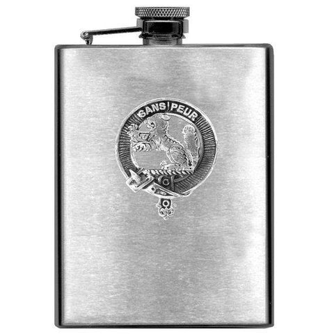 Sutherland Tartan Clan Crest Scottish Badge Flask | 1stScotland