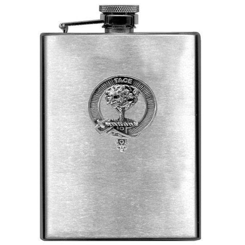Abercrombie Tartan Clan Crest Scottish Badge Flask | 1stScotland