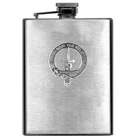 Bell Tartan Clan Crest Scottish Badge Flask | 1stScotland