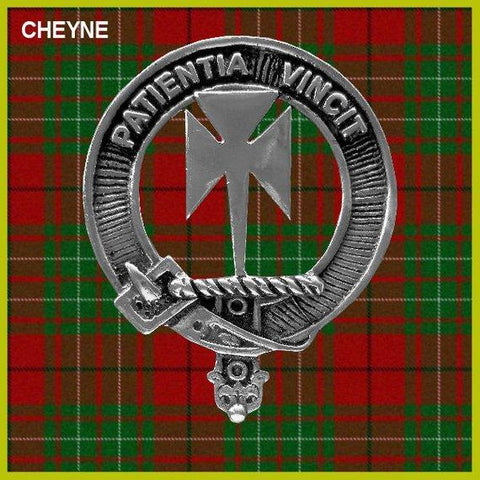 Cheyne Tartan Clan Crest Scottish Badge Flask