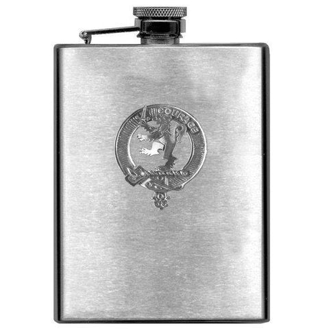 Cumming Tartan Clan Crest Scottish Badge Flask | 1stScotland
