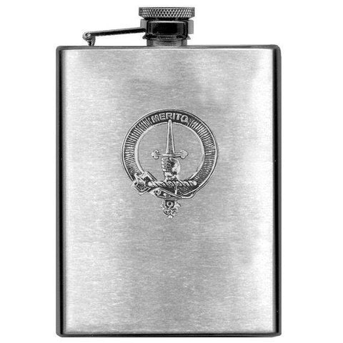 Dunlop Tartan Clan Crest Scottish Badge Flask | 1stScotland