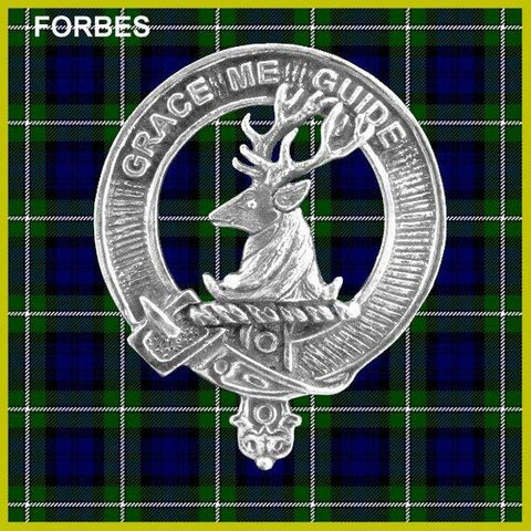 Forbes Tartan Clan Crest Scottish Badge Flask