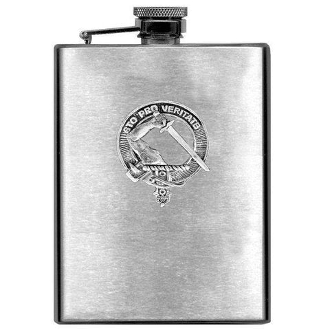 Guthrie Tartan Clan Crest Scottish Badge Flask | 1stScotland