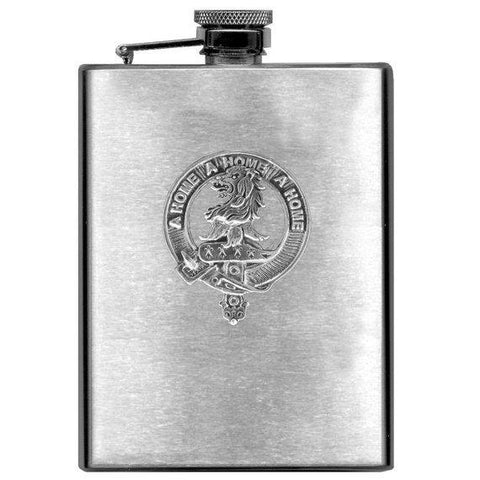 Home Tartan Clan Crest Scottish Badge Flask | 1stScotland