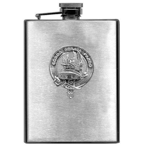 Lockhart Tartan Clan Crest Scottish Badge Flask | 1stScotland
