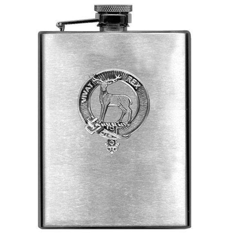 MacCorquodale Tartan Clan Crest Scottish Badge Flask | 1stScotland