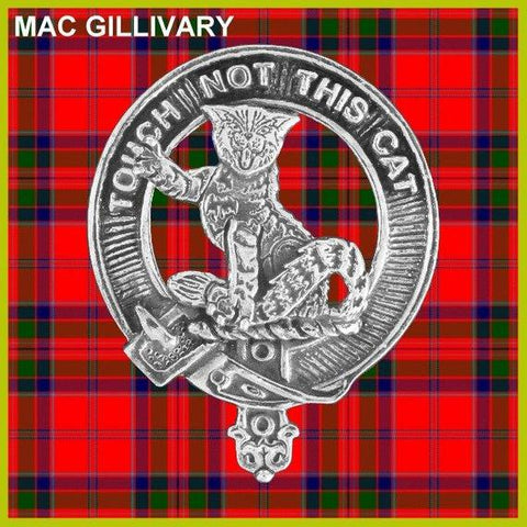 MacGillvray Tartan Clan Crest Scottish Badge Flask
