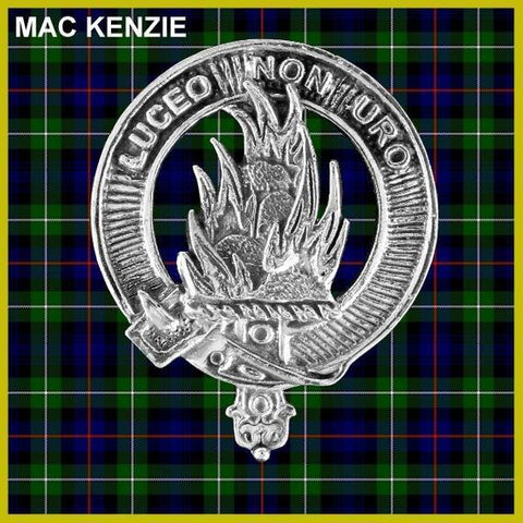 MacKenzie Tartan Clan Crest Scottish Badge Flask
