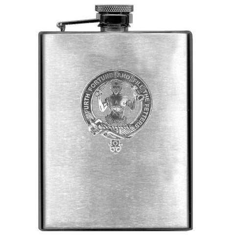 Stewart (Athol) Tartan Clan Crest Scottish Badge Flask | 1stScotland