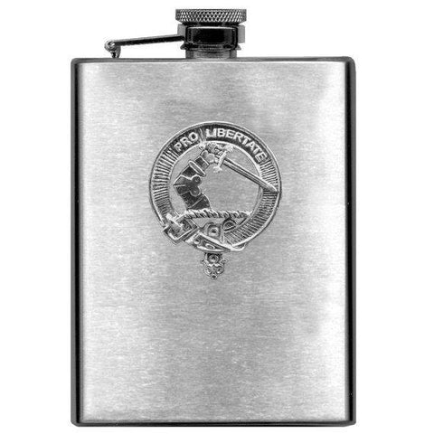 Wallace Tartan Clan Crest Scottish Badge Flask | 1stScotland