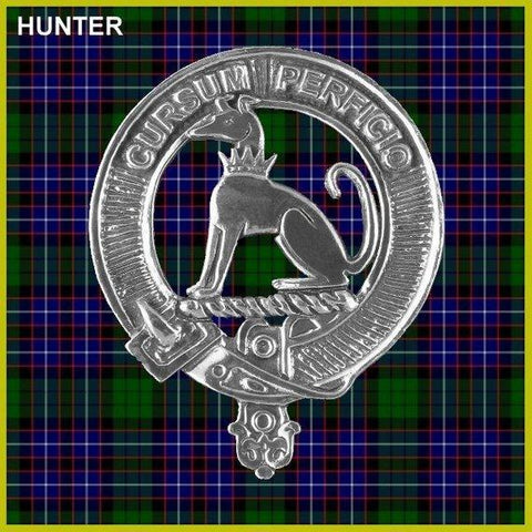 Hunter Tartan Clan Crest Interlace Kilt Belt Buckle