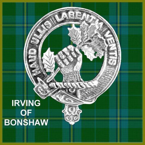 Irvine (Bonshaw) Tartan Clan Crest Scottish Cap Badge