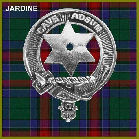 Jardine Tartan Clan Crest Interlace Kilt Belt Buckle