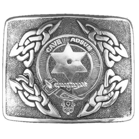 Image of Jardine Clan Crest Interlace Kilt Buckle | 1stScotland