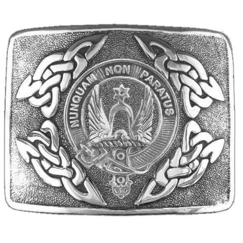 Johnston Clan Crest Interlace Kilt Buckle | 1stScotland