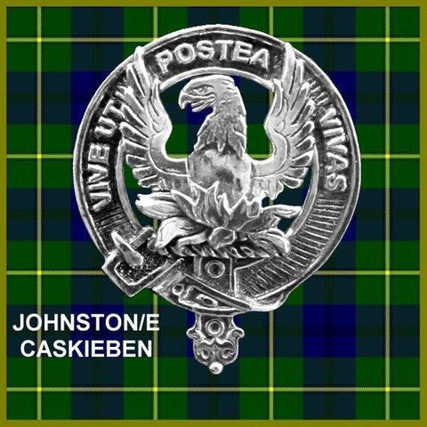 Johnston (Caskieben) Tartan Clan Crest Scottish Cap Badge