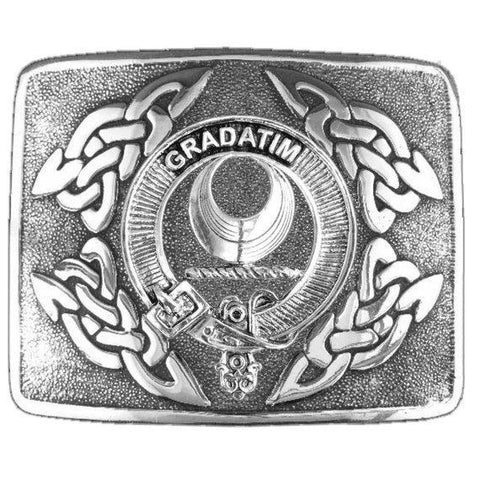 Image of Kilgour Clan Crest Interlace Kilt Buckle | 1stScotland