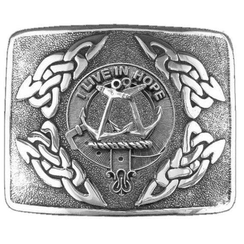 Image of Kinnear Clan Crest Interlace Kilt Buckle | 1stScotland