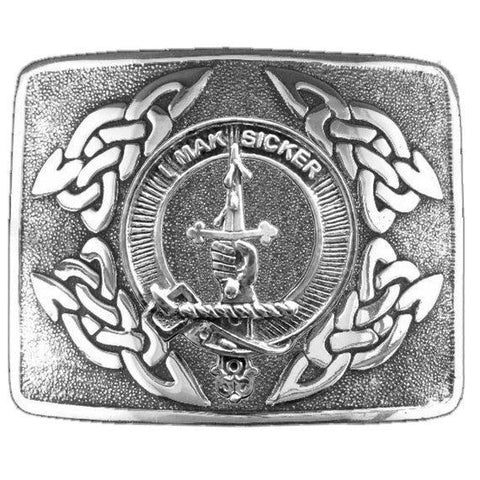 Image of Kirkpatrick Clan Crest Interlace Kilt Buckle | 1stScotland