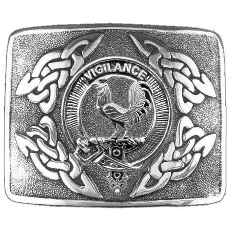 Image of Laing Clan Crest Interlace Kilt Buckle | 1stScotland