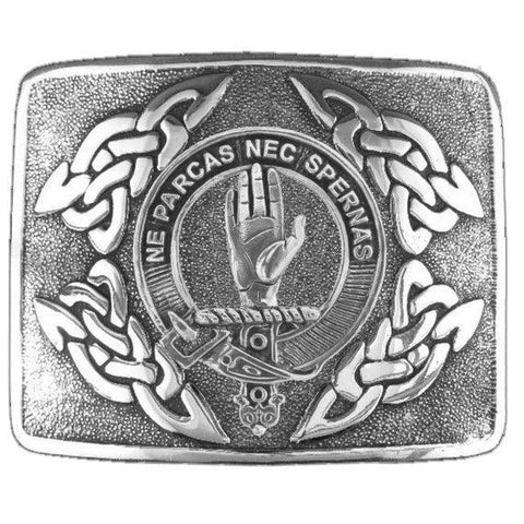Image of Lamont Clan Crest Interlace Kilt Buckle | 1stScotland