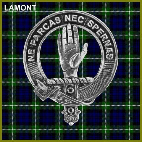 Lamont Tartan Clan Crest Scottish Cap Badge