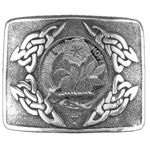 Image of Learmont Clan Crest Interlace Kilt Buckle | 1stScotland