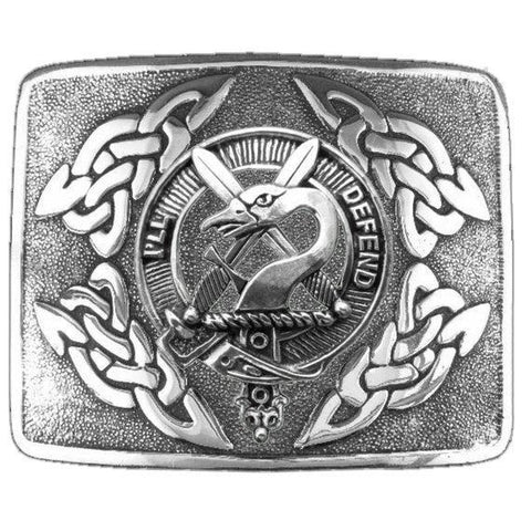 Image of Lennox Clan Crest Interlace Kilt Buckle | 1stScotland