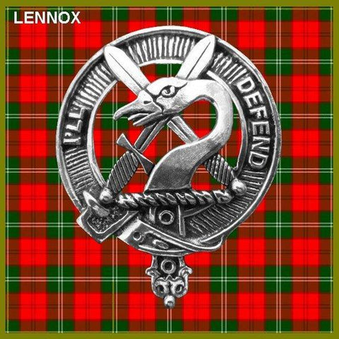 Lennox Tartan Clan Crest Scottish Cap Badge
